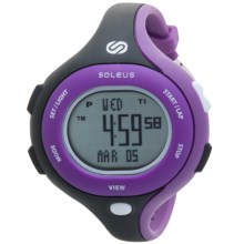Soleus Chicked Sports Watch (For Women) in Purple/Black - Closeouts