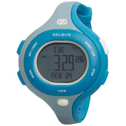 Soleus Chicked Sports Watch (For Women) in Shy Blue/Medium Blue/Shy Blue - Closeouts