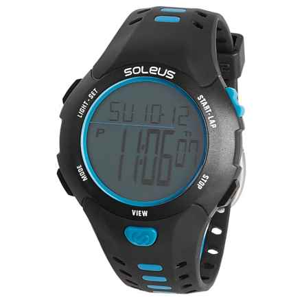 Soleus Contender Digital Sport Watch (For Men) in Black/Blue - Closeouts