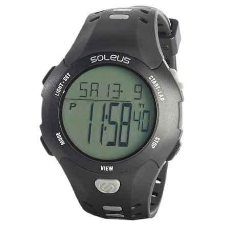 Soleus Contender Digital Sport Watch (For Men) in Black/Grey - Closeouts
