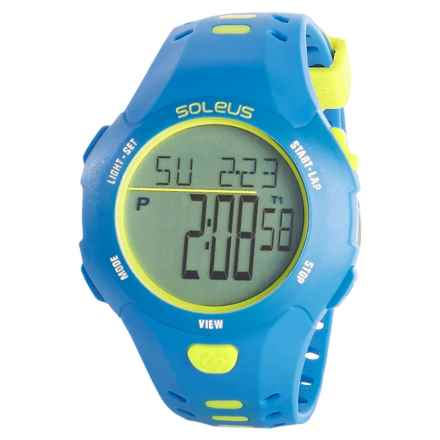 Soleus Contender Digital Sport Watch (For Men) in Blue/Volt - Closeouts