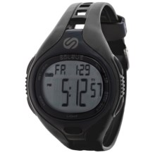 Soleus Dash Digital Sports Watch in Black/Black - Closeouts