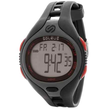 Soleus Dash Digital Sports Watch in Black/Grey/Red - Closeouts