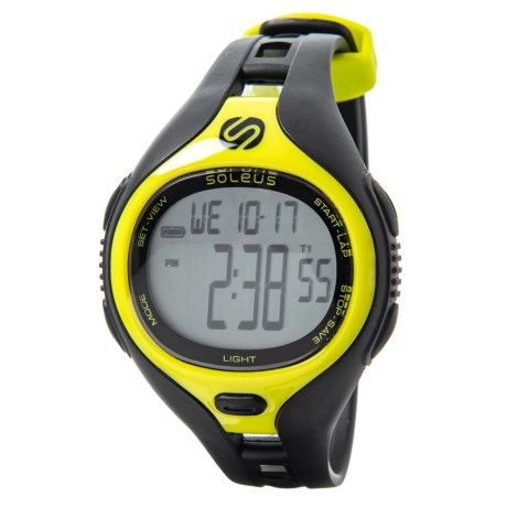 Soleus Dash Digital Sports Watch in Black/Lime