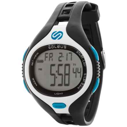 Soleus Dash Digital Sports Watch in Black/White/Blue - Closeouts