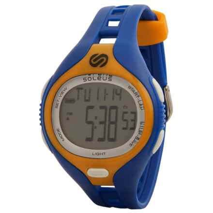Soleus Dash Digital Sports Watch in Blue/Orange/White - Closeouts