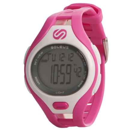 Soleus Dash Digital Sports Watch in White/Pink - Closeouts