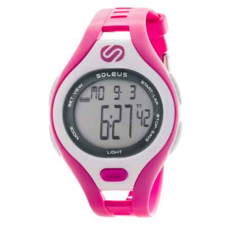 Soleus Dash Digital Watch - Small in Pink/White - Closeouts
