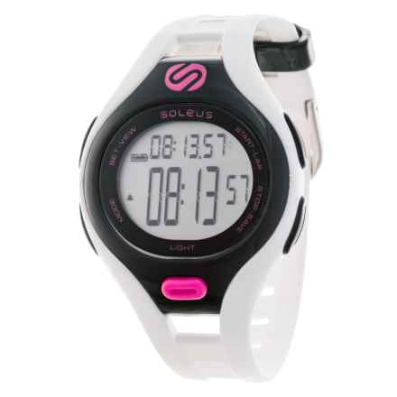 Soleus Dash Digital Watch - Small in White/Black/Pink - Closeouts