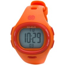 Soleus Flash Heart Rate Monitor Watch in Orange - Closeouts