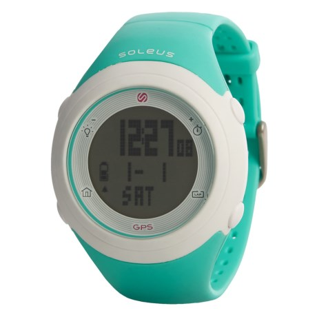 Soleus GPS Fly Digital Running Watch - Composite Strap (For Men and Women) in Mint Green