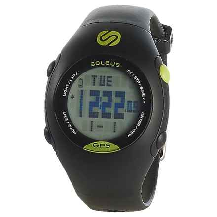 Soleus GPS Mini Digital Running Watch - Plastic Strap (For Men and Women) in Black/Lime - Closeouts