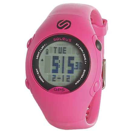 Soleus GPS Mini Digital Running Watch - Plastic Strap (For Men and Women) in Pink - Closeouts