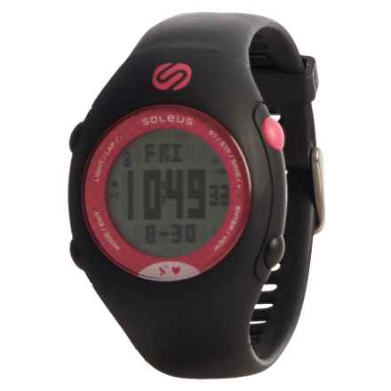 Soleus GPS Mini-HRM Digital Watch (For Women) in Black/Pink - Closeouts