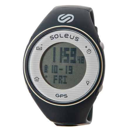 Soleus GPS One Digital Running Watch (For Women) in Navy/White - Closeouts