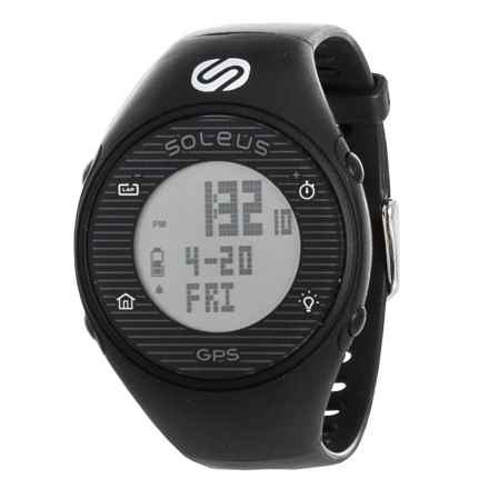 Soleus GPS One Digital Running Watch in Black/Black - Closeouts