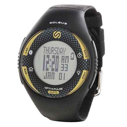 Soleus GPS Pulse BLE Digital Running Watch - Bluetooth® in Black/ Yellow - Closeouts