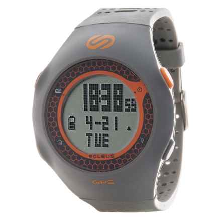 Soleus GPS Turbo Watch in Grey/Orange - Closeouts