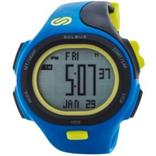 Soleus P.R. Sports Watch in Black/Electric Yellow/Blue - Closeouts