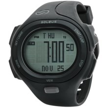 Soleus P.R. Sports Watch in Black - Closeouts