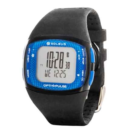 Soleus Pulse Rhythm BLE Digital Running Watch in Black/ Blue - Closeouts