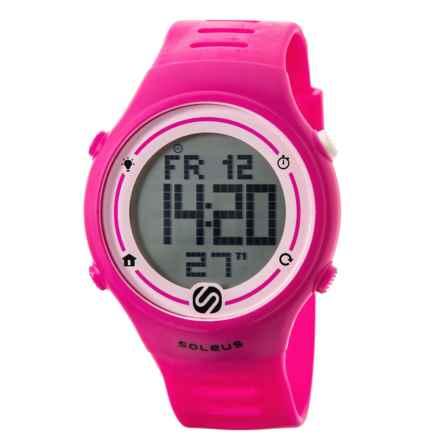 Soleus Sprint Digital Running Watch (For Women) in Pink - Closeouts