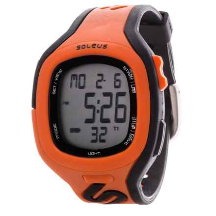 Soleus Stride Watch in Orange/Black - Closeouts