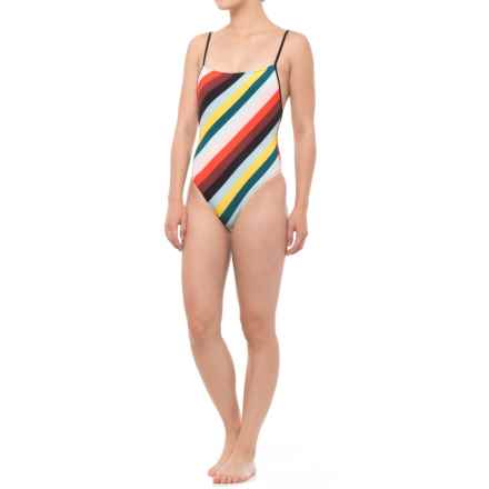 Solid & Striped Chelsea One-Piece Swimsuit (For Women) in Diagonal Paradise Stripe - Closeouts