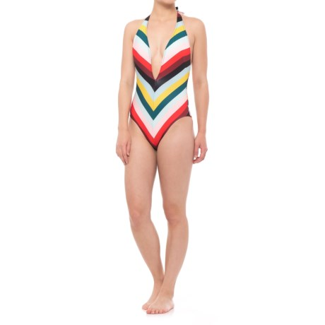Solid & Striped The Willow One-Piece Swimsuit (For Women) in Diagonal Paradise Stripe