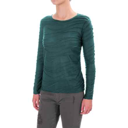 Solid Braided Trim Shirt - Long Sleeve (For Women) in Jade - 2nds