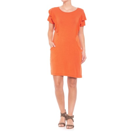Solid-Color Dress - Short Sleeve (For Women)