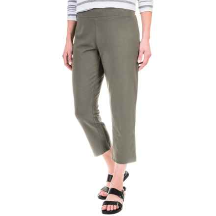 Solid Cotton-Blend Crop Pants (For Women) in Ash - 2nds