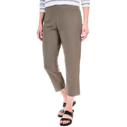 Solid Cotton-Blend Crop Pants (For Women) in Hazelnut - 2nds