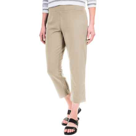Solid Cotton-Blend Crop Pants (For Women) in Sandbar - 2nds
