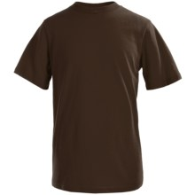 Solid Cotton T-Shirt - Short Sleeve (For Little and Big Boys) in Brown - 2nds