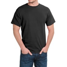 Solid Crew Neck T-Shirt - Short Sleeve (For Men and Women) in Black - 2nds