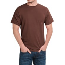 Solid Crew Neck T-Shirt - Short Sleeve (For Men and Women) in Dark Brown - 2nds