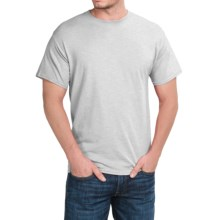 Solid Crew Neck T-Shirt - Short Sleeve (For Men and Women) in Light Grey Heather - 2nds