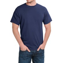Solid Crew Neck T-Shirt - Short Sleeve (For Men and Women) in Navy - 2nds