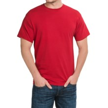 Solid Crew Neck T-Shirt - Short Sleeve (For Men and Women) in Red - 2nds