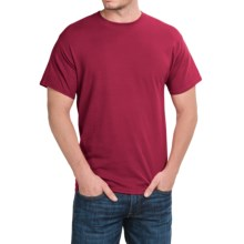 Solid Crew Neck T-Shirt - Short Sleeve (For Men and Women) in Wine - 2nds