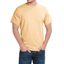 Solid Crew Neck T-Shirt - Short Sleeve (For Men and Women) in Yellow - 2nds