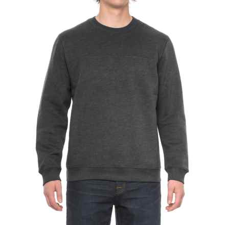 Solid Fleece Stitch-Trimmed Sweatshirt (For Men) in Charcoal Heather - Closeouts