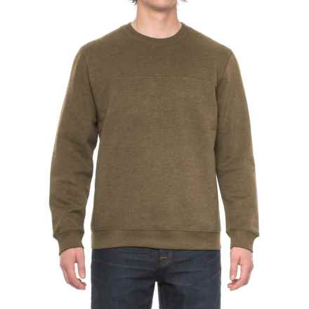 Solid Fleece Stitch-Trimmed Sweatshirt (For Men) in Coffee Heather - Closeouts