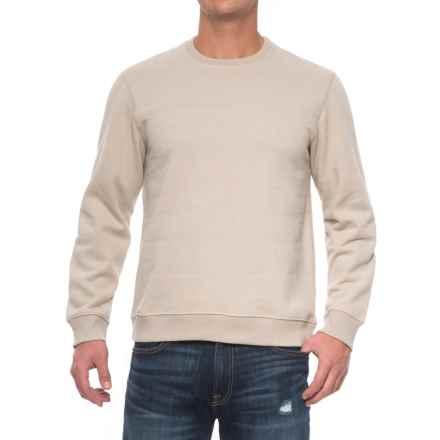Solid Fleece Stitch-Trimmed Sweatshirt (For Men) in Ecru Heather - Closeouts