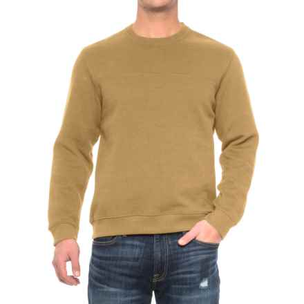 Solid Fleece Stitch-Trimmed Sweatshirt (For Men) in Gold Heather - Closeouts