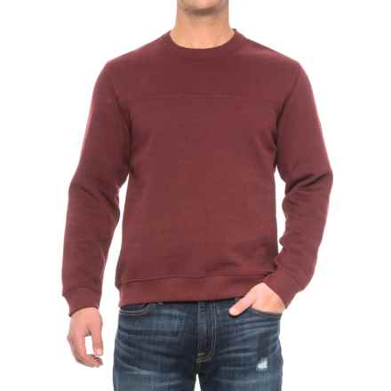 Solid Fleece Stitch-Trimmed Sweatshirt (For Men) in Maroon Heather - Closeouts