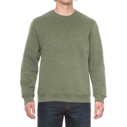 Solid Fleece Stitch-Trimmed Sweatshirt (For Men) in Sage Heather - Closeouts