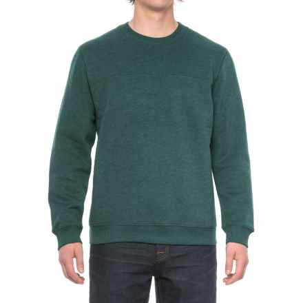 Solid Fleece Stitch-Trimmed Sweatshirt (For Men) in Spruce Heather - Closeouts