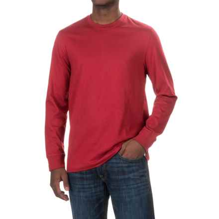 Solid Knit Shirt - Crew Neck, Long Sleeve (For Men) in Red - 2nds